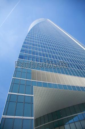 down view of skyscraper