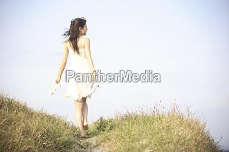 back figure of japanese woman