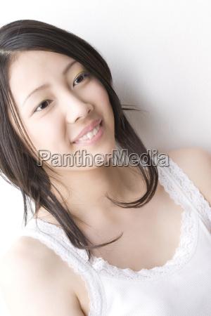 smiling japanese woman
