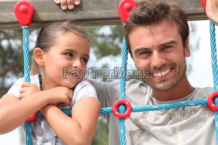 father and daughter together in the