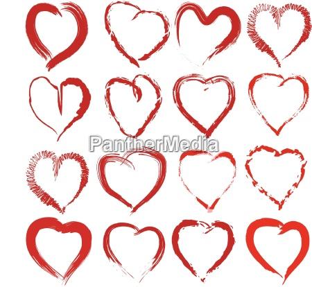 vector set risavanyh hearts