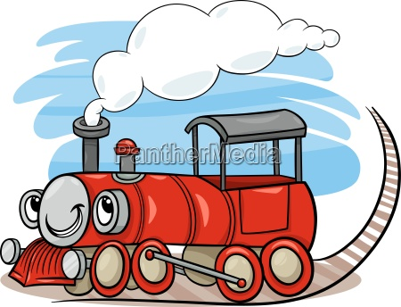 cartoon locomotive or engine character