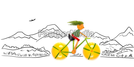 off road cyclist