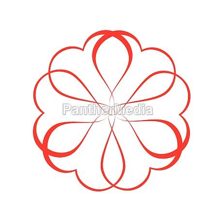 vector flower logo