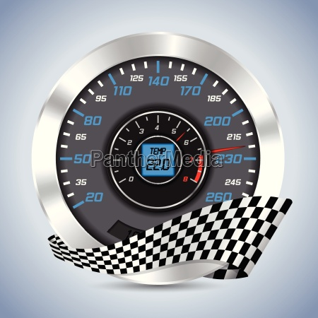 speedometer with rev counter