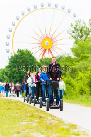 tourists at segway sightseeing tour