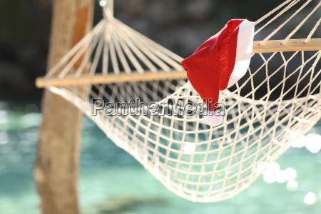 hammock in a tropical beach on