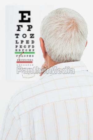 rear view of a senior man