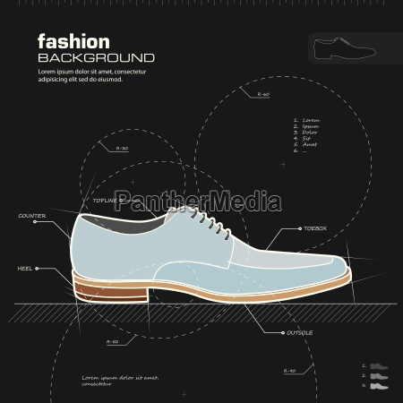 man shoes design vector