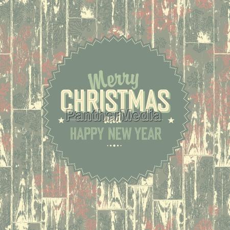 merry christmas retro card vector eps10