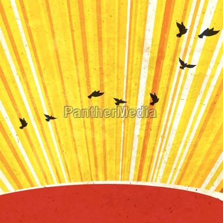retro sunrays background vector eps10