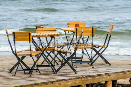 cafe on the baltic beach