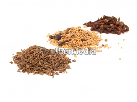 spices cloves and caraway on