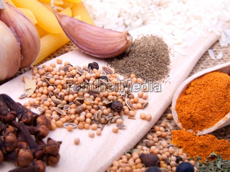 macro shot of spices