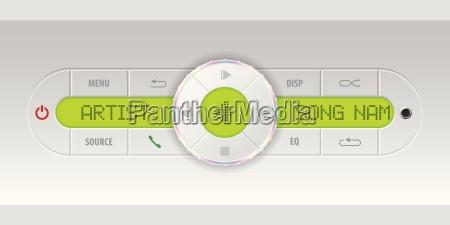 car audio dashboard