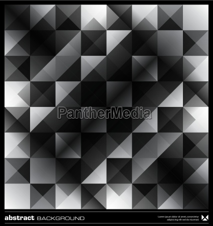 abstract black and white triangles background