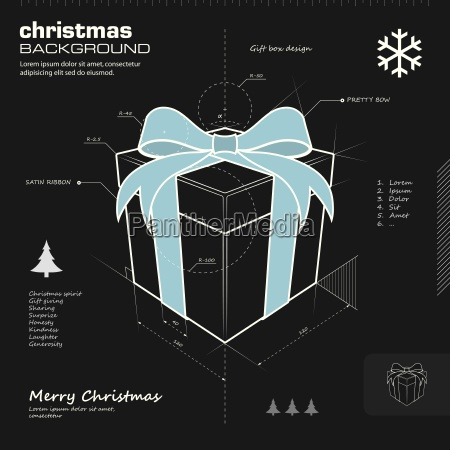 gift box design vector background