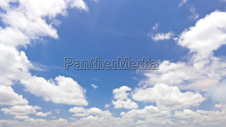 blue sky with white cloud for
