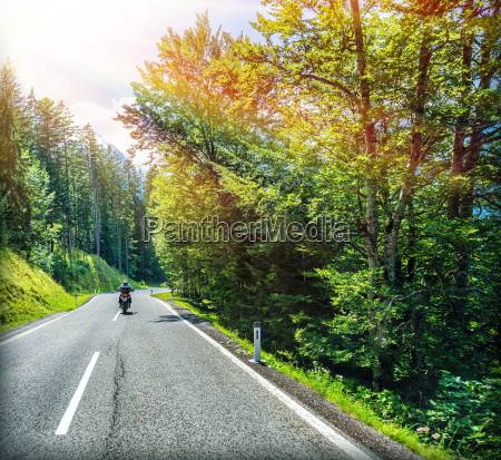 traveling on motorcycle