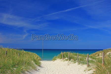 beach in brittanyfrance