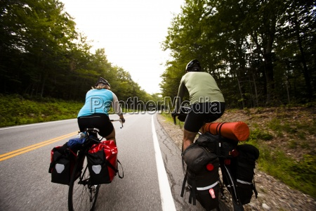 during a cycling tour a female