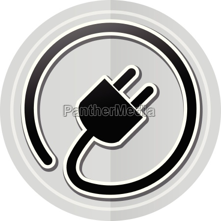 electric plug sticker icon