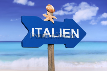 italy with beach and sea in