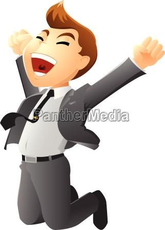 illustration of jumping businessman