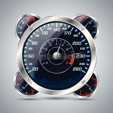 speedometer with rev counter and other