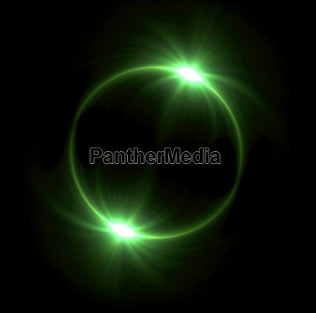 green solar eclipse in space concept