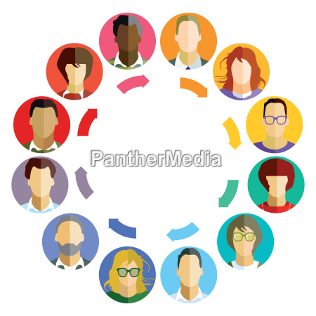 concept for business teamworkbrainstorm