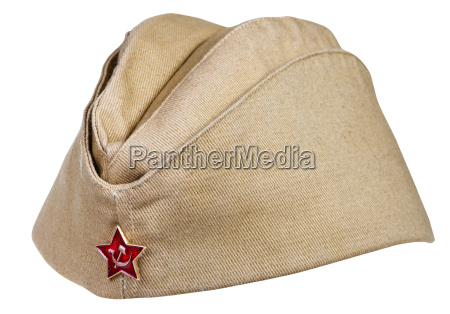 military field cap with soviet red