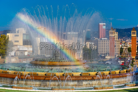 magic fountain of montjuic in barcelona