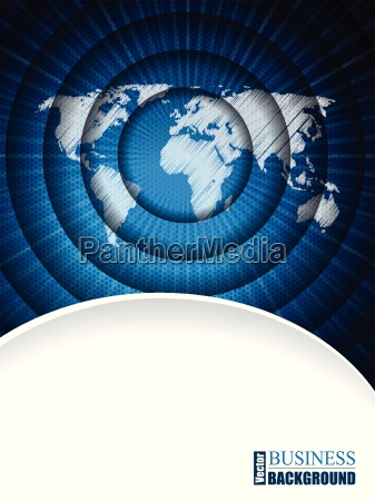 modern business brochure with world map