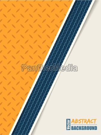 abstract orange plate brochure with blue