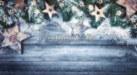 christmas background naturein blue gray