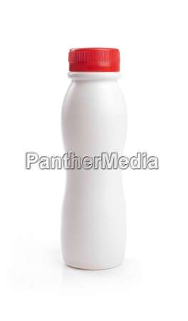 blank yogurt drink bottle with red
