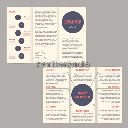 tri fold flyer brochure with dots