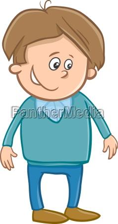 cute boy character cartoon