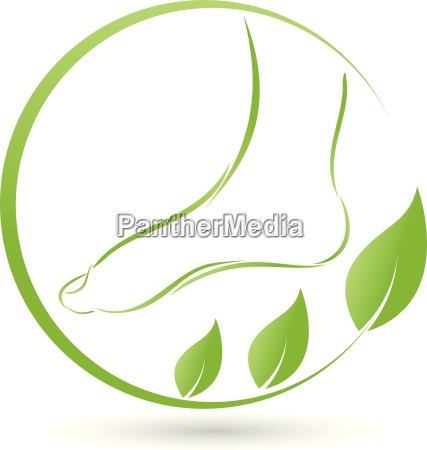 foot and leaves logo foot care