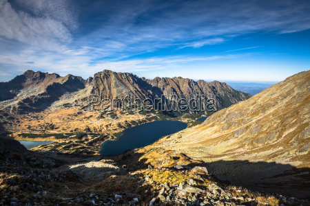 mountain landscape in tatra mountain national