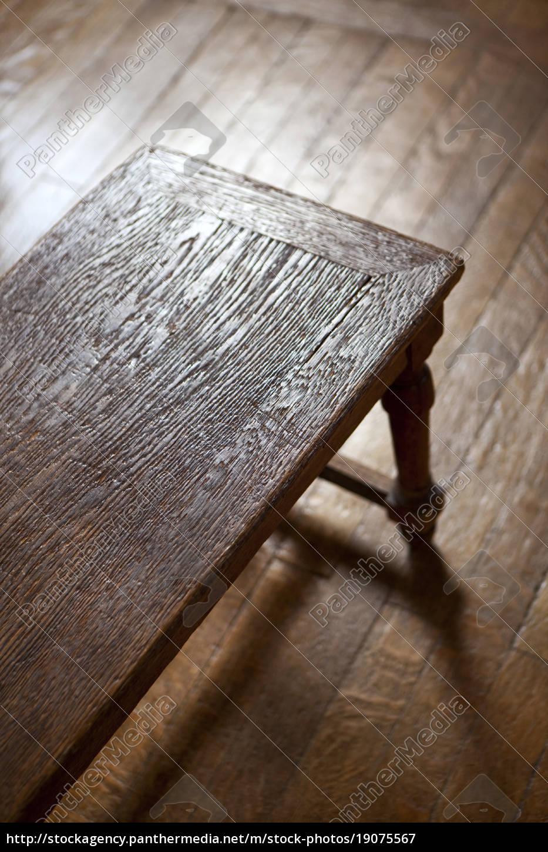 Sensational Stock Photo 19075567 Wooden Vintage Bench Pdpeps Interior Chair Design Pdpepsorg