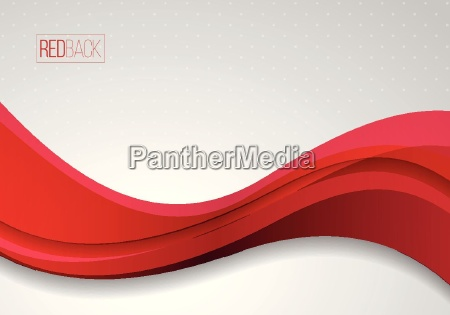 wavy, red, and, white, vector, abstract - 19153959