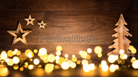 christmas background of wood and lightscheerful