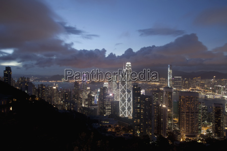aerial view of skyscrapers at