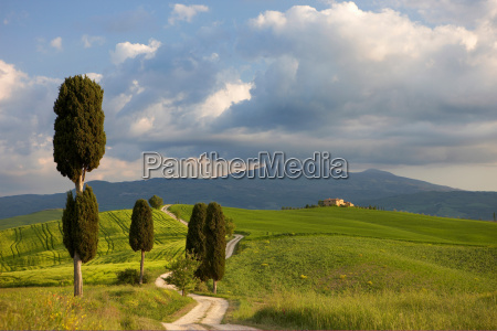 orcia valley in spring