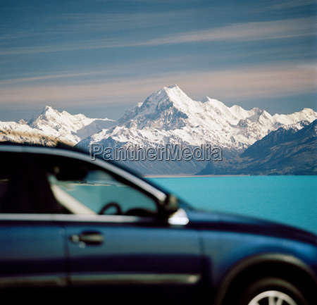 touring car in mt cook national