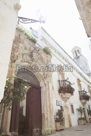 ornate stone carved doorway martina franca