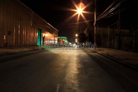 empty street at night in new