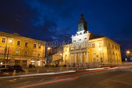lublin poland at night